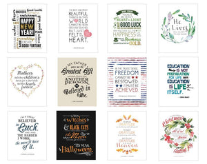 A Year of Inspiring Quotes: Holiday - Decor