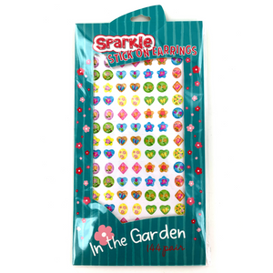 SPARKLE 288 Piece (144) Pair Stick-on Earrings - In The Garden