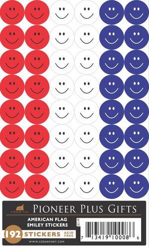 B651 Stickers-American Flag Smiley