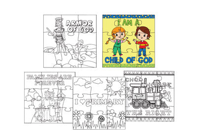 C525, I172 Color Your Own Puzzle (5 pk)