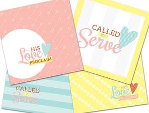 C134, C173 His Love Proclaim Mini Greet Card (4 pk)