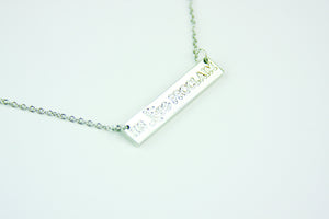 C121, Above pick His Love Proclaim Necklace (silver)