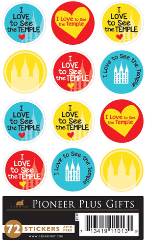 Stickers - I Love to See the Temple