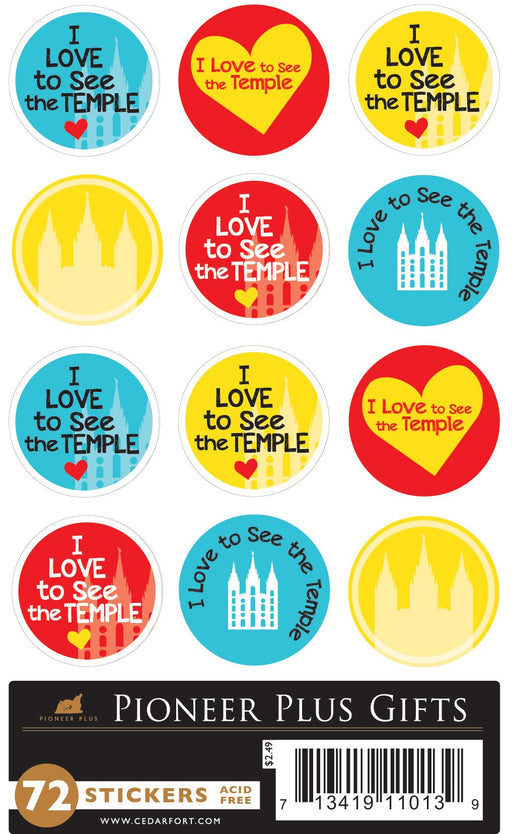 B944 Stickers - I Love to See the Temple