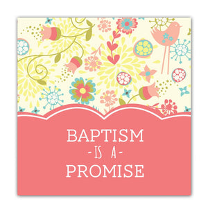 E324, E371 Baptism Mini Gift Card (girl)