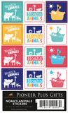 B851 Noah's Animals Stickers