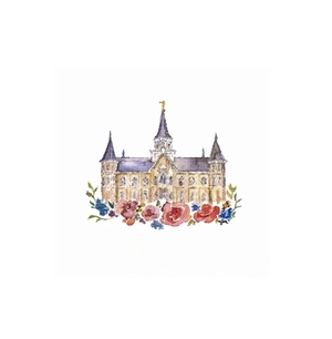 Provo City Center Temple - Watercolor Greeting Card