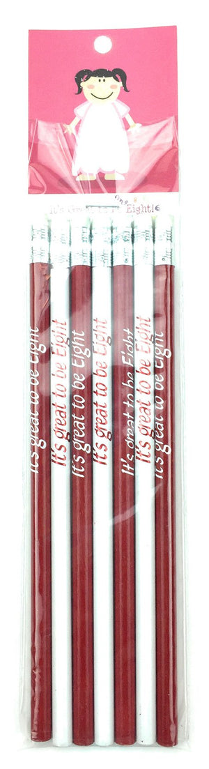 F941 It's Great to be 8-Girl/7Pk Pencil