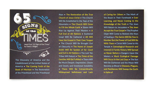 65 Signs of the Times Pocket Card