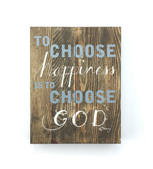 Al Carraway - To Choose Happiness - Decor - Wood Block