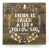 Al Carraway - Decide to Laugh - Decor - Wood Block