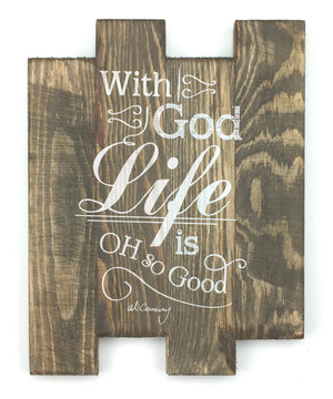 Al Carraway - With God - Decor - Wood Plaque