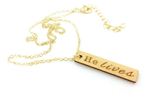 Al Carraway He Lives Necklace