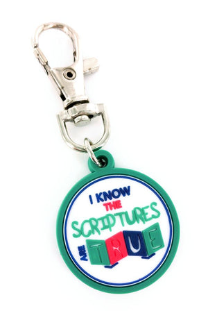 S&D I Know the Script are True Zipper Charm