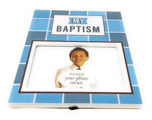 Baptism Picture Frame - Boy