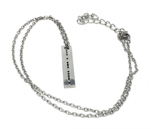 Serve - Necklace - Morse Code