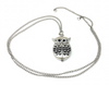 Owl - Watch & Necklace - Silver