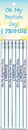 I Promise On My Baptism Day - Pencils - 7pk