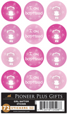 I Am Baptized - Baptism - Stickers - Girl