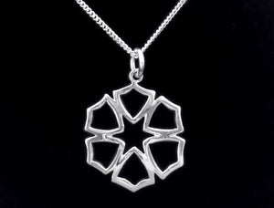 E873, E881 Star of Faith Necklace (sterling silver)