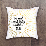 Al Carraway - This Exact Second-  Decor - Pillow
