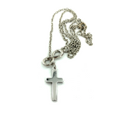 Infinity Cross - Necklace - Silver