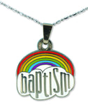 F523, F562 Baptism Necklace (rainbow)