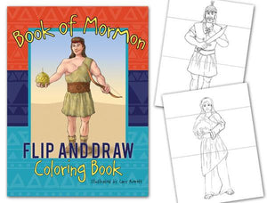 Book of Mormon Flip & Draw Coloring Book