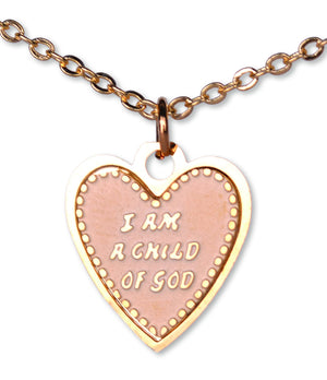 C954 Neck. Child of God Heart Gold