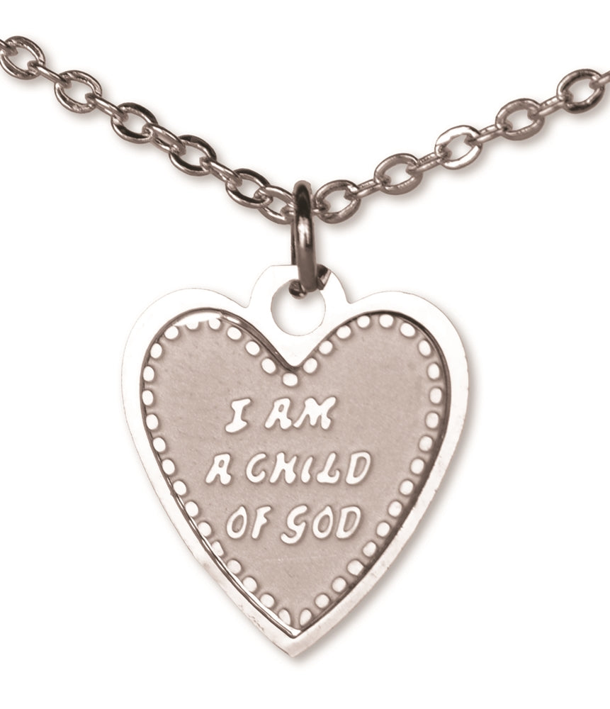 C955 Neck. Child of God Heart Sil