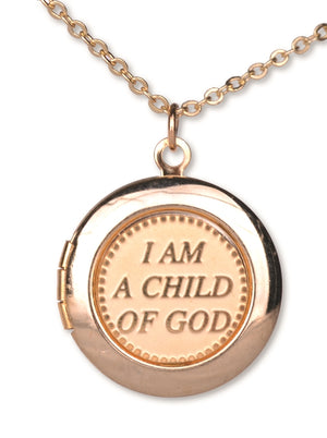D851 Locket Child of God Gold