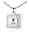 D644 Necklace CTR Birthstone Feb-- Amethyst
