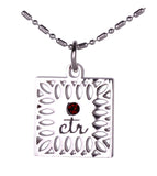 D651 Necklace CTR Birthstone Jul-- Ruby