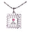 D654 Necklace CTR Birthstone Oct-- Rose