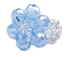 A726, A762 Baptism Flower Ring--- Periwinkle