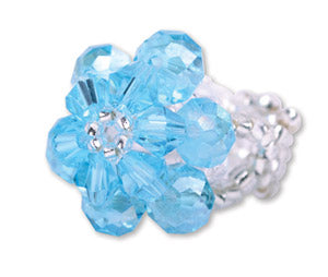 A724, A761 Baptism Flower Rings--Teal