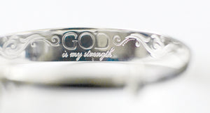 F242, R411 God is My Strength Bracelet