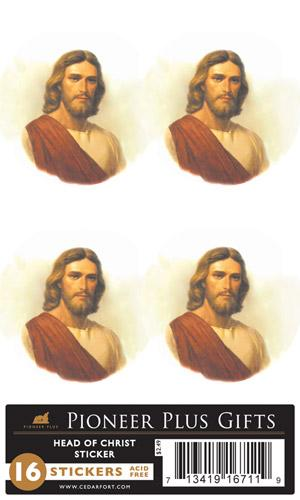 Head of Christ Stickers - 4 sheet
