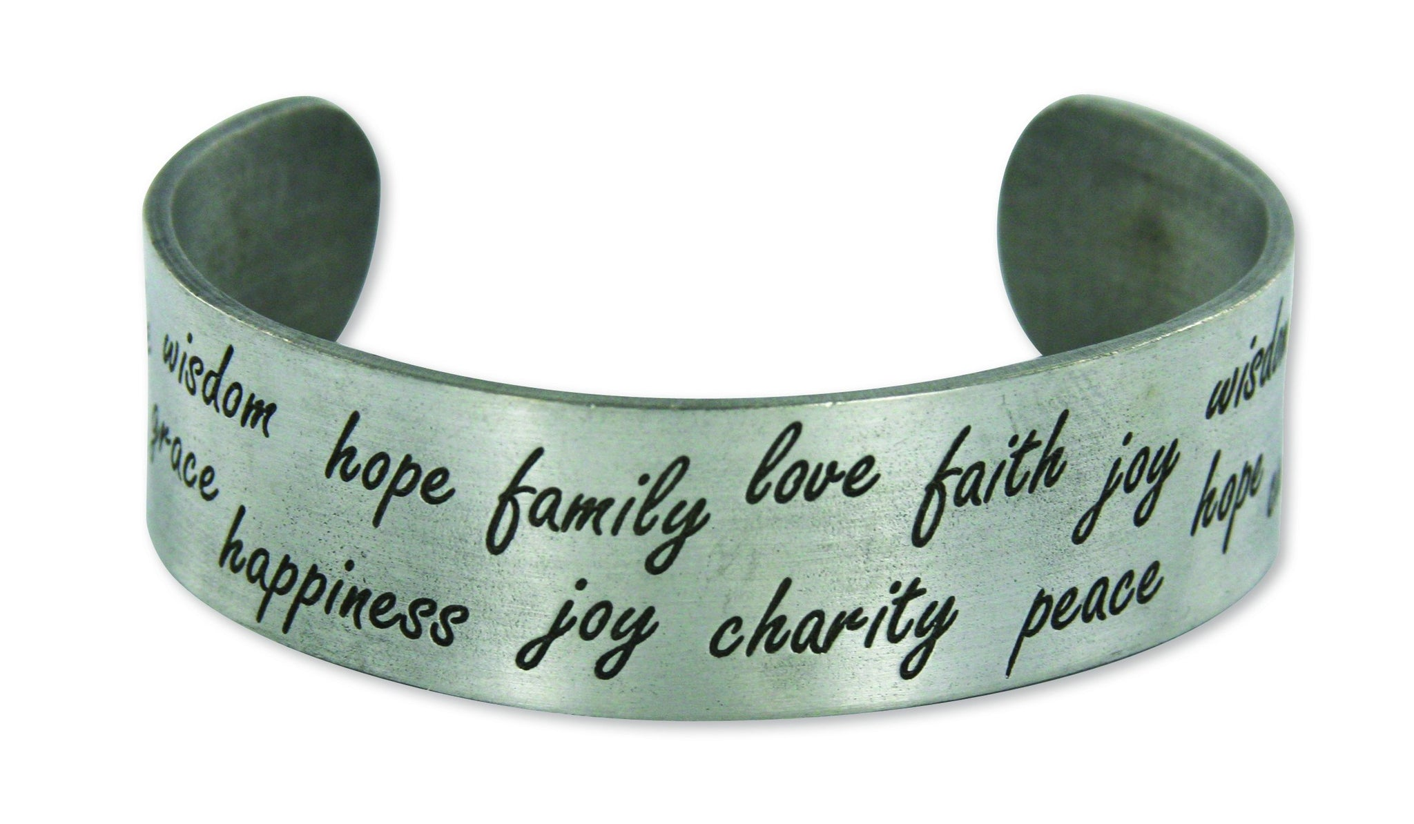 E753 Bracelet Hope Cuff Pewter