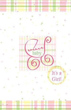 Greeting card / It's a Girl
