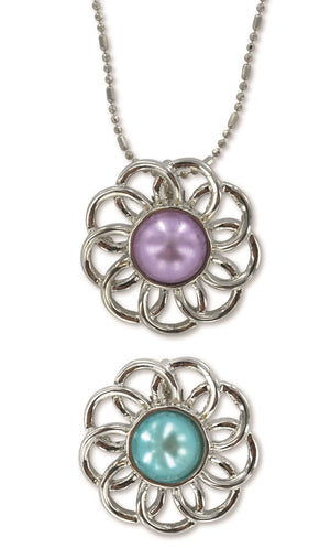 B236, B263 Necklace / Pearl Flower Baptism / B & P