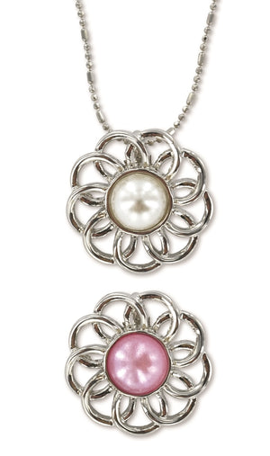 B235, B264 Necklace / Pearl Flower Baptism / W & P