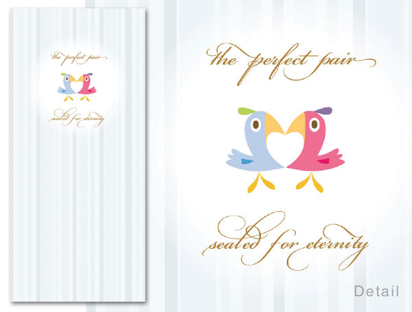 D726,I062 Money Card Wedding Perfect Pair