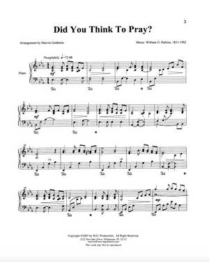 Did You Think to Pray?  - Marvin Goldstein Single