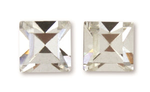 C735, C772 Sage / Earring / Square Diamond Gem