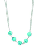 C741, C774 Sage / Necklace / Beaded Aqua