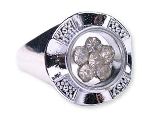D441, Wall 10-2 Baptism Ring-- Spinner/White Size 4