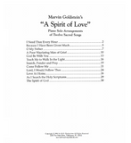 A Spirit of Love - Marvin Goldstein Album