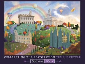 Celebrating the Restoration Temple Puzzle - 500 Pieces
