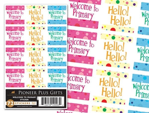 B644 Sticker/Welcome to Primary /6pk(new)